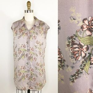 ⭐️ NEW ARRIVAL ModCloth Draped Tan Floral Top